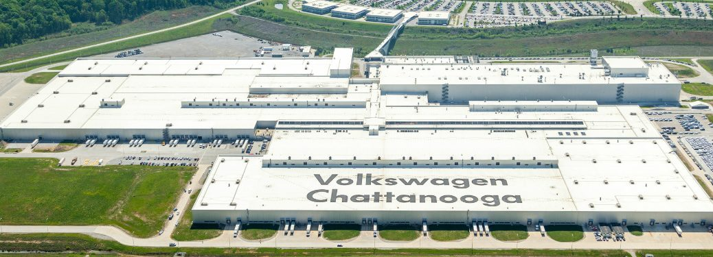 Aerial View of Volkswagen Chattanooga Plant