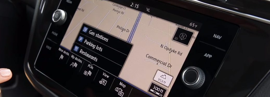 Points of Interest on the Volkswagen Navigation System