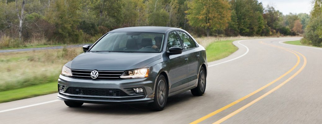 2018 VW Jetta Driving Through a Forest Road
