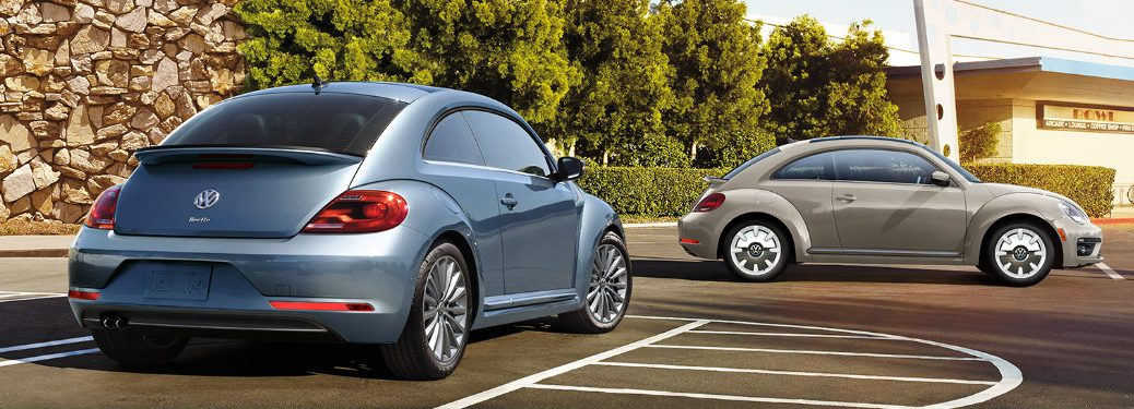 Two 2019 VW Beetle Final Edition Coupe Vehicles in a Parking Lot