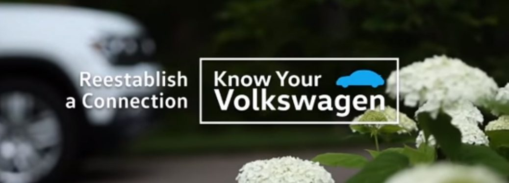 Know your Volkswagen Reestablish a Connection Title and a White VW Atlas