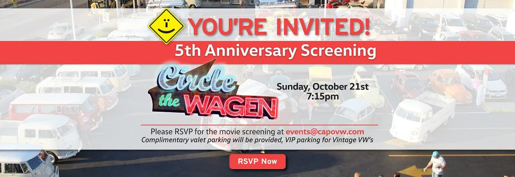 Details of 5th Anniversary Screening of Circle the Wagen Movie and Background of VW Buses