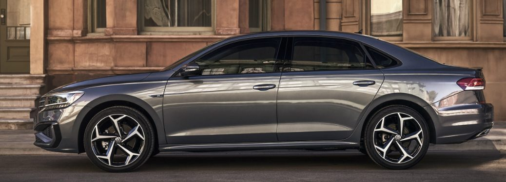 Side view of grey 2020 Volkswagen Passat