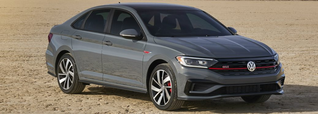 Front view of grey 2019 Volkswagen Jetta GLI