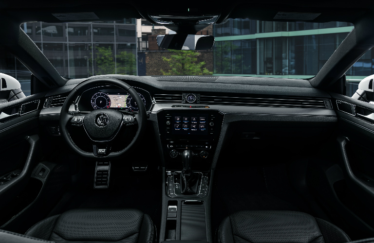 Dashboard and black front seats in 2019 Volkswagen Arteon