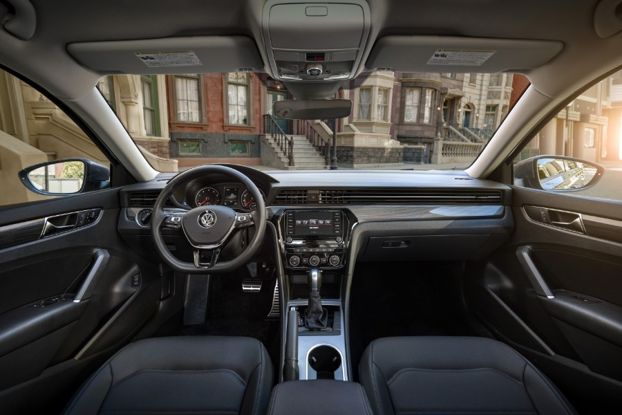 Front interior in the 2020 Volkswagen Passat