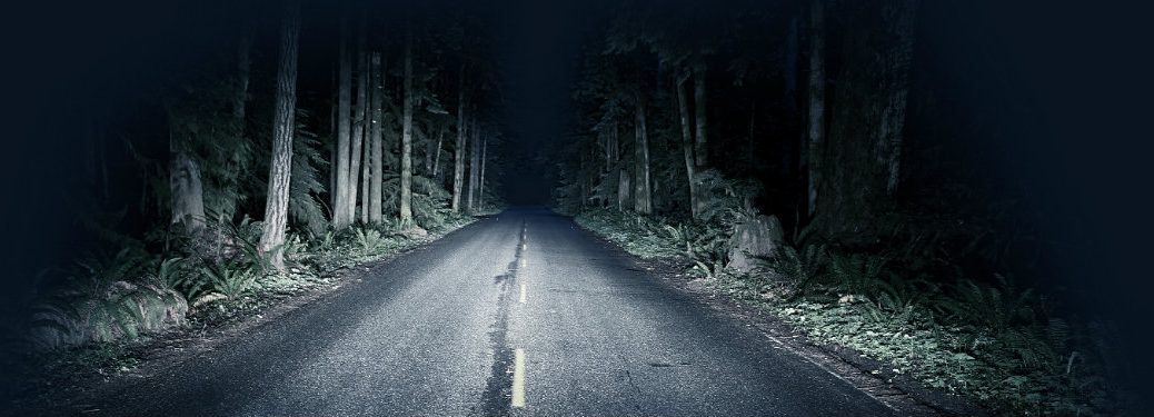 dark, empty road