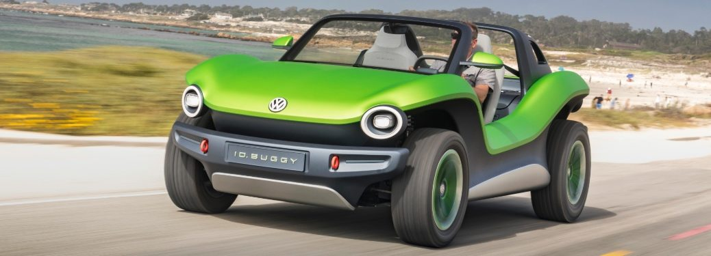 Volkswagen ID. BUGGY concept driving near beach