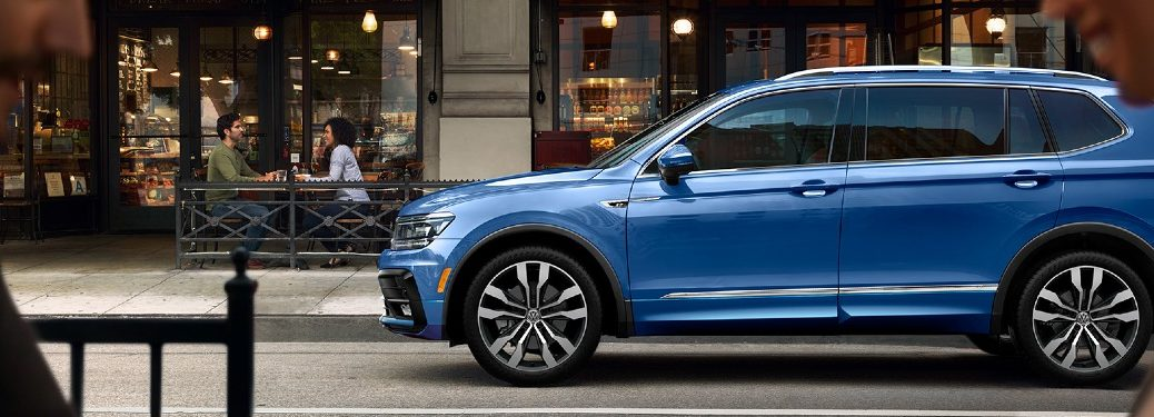 2020 Volkswagen Tiguan parked outside bistro