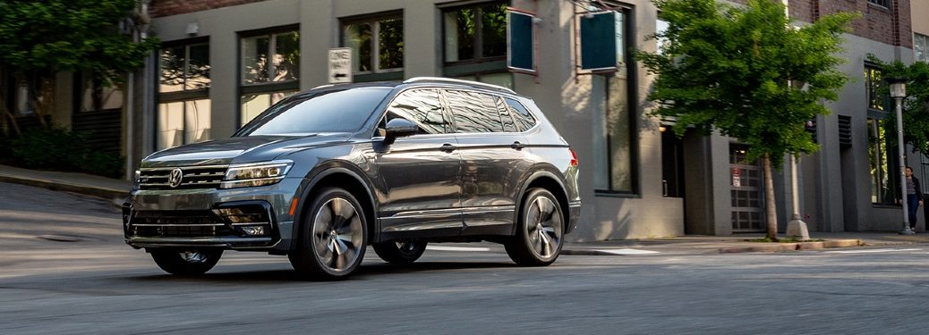2020 Tiguan driving down city street