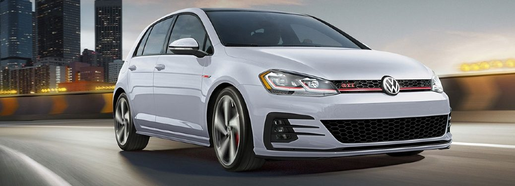 2020 Golf GTI driving on city interstate