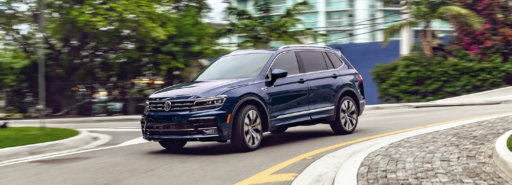 2021 Tiguan driving on sharp curve