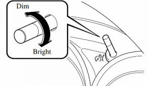 How to Dim or Brighten Mazda Dashboard Lights