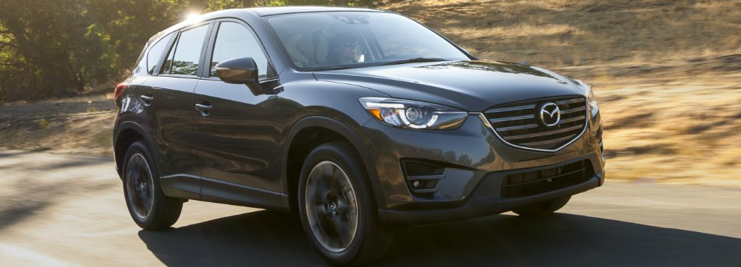 Front View of Dark Grey 2016 Mazda CX-5