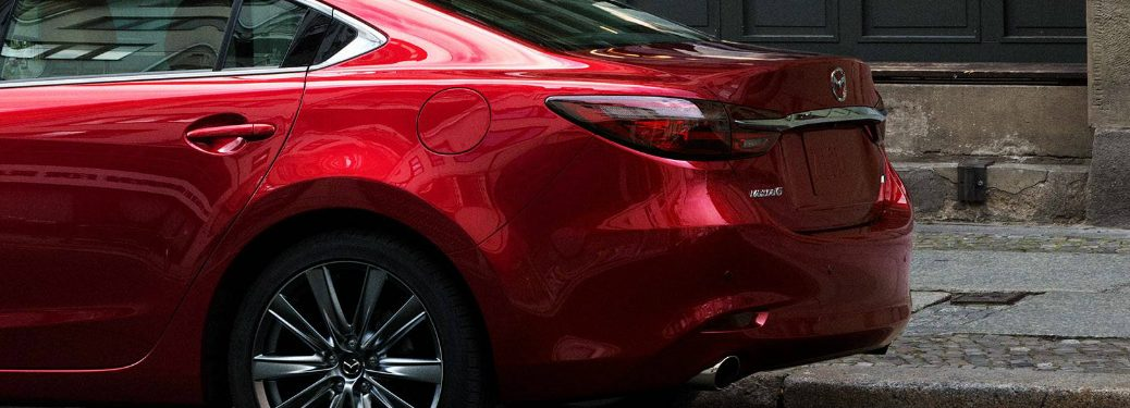 View of the Rear Section of a Red 2018 Mazda6
