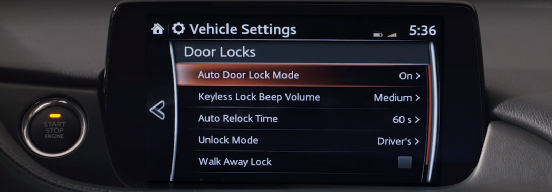 Can I customize with personal settings in the 2018 Mazda6?