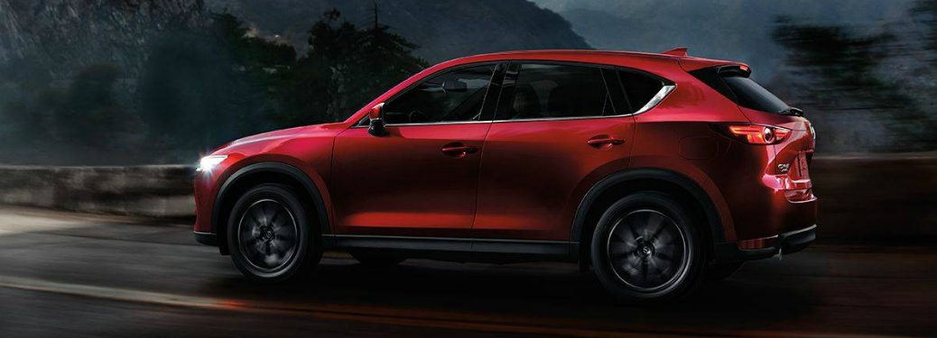 Red 2019 Mazda CX-5 Driving on a Mountainous Road