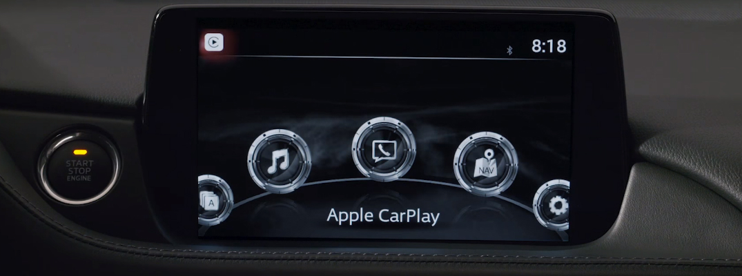 Apple-CarPlay-on-the-infotainment-system-touchscreen-in-a-Mazda