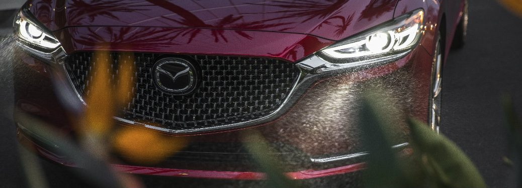 grille and headlights of red mazda6