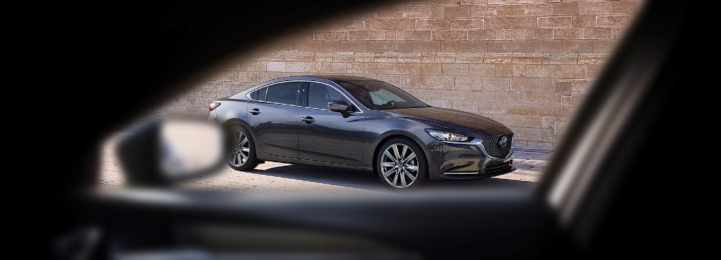 2020 Mazda6 seen from the passenger window of another vehicle