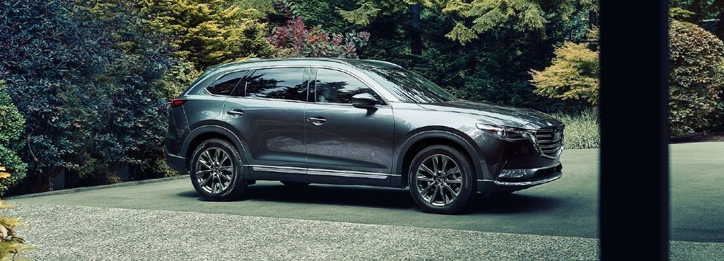 2020 CX-9 parked in a garden; side profile