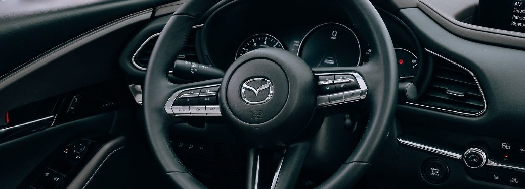 2020 CX-30 steering wheel close-up