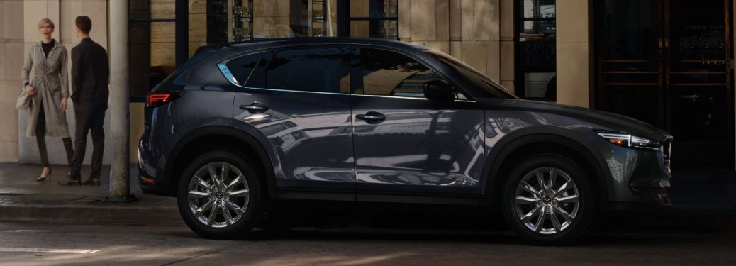 2020 CX-5 parked on busy curb