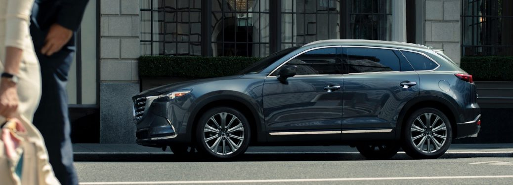 2021 CX-9 parked on city street