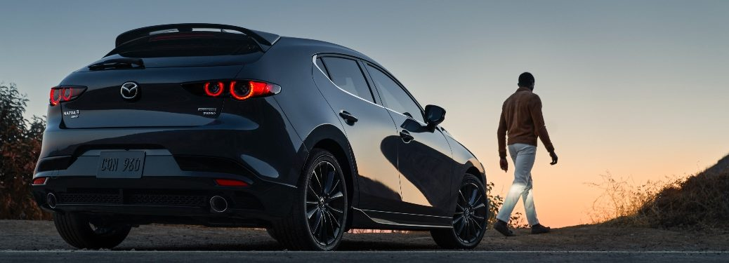 2021 Mazda3 Turbo Hatch rear exterior view