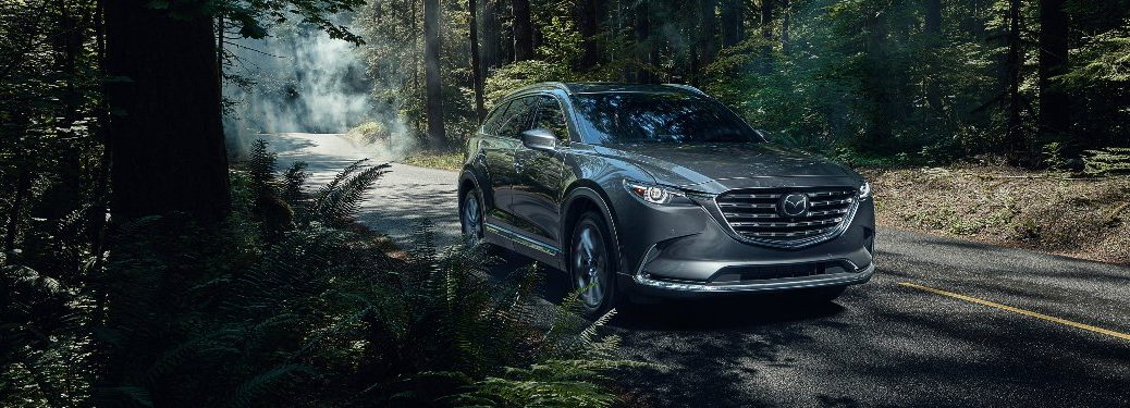 2021 CX-9 on forested road
