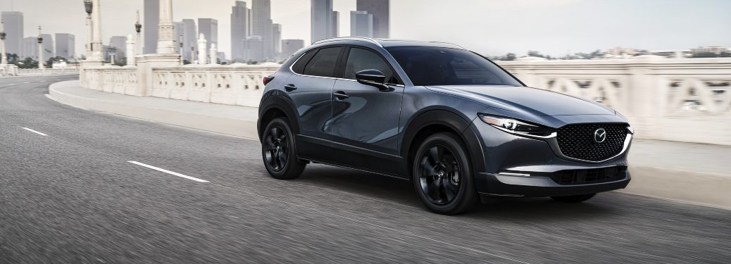2021 CX-30 driving on city highway
