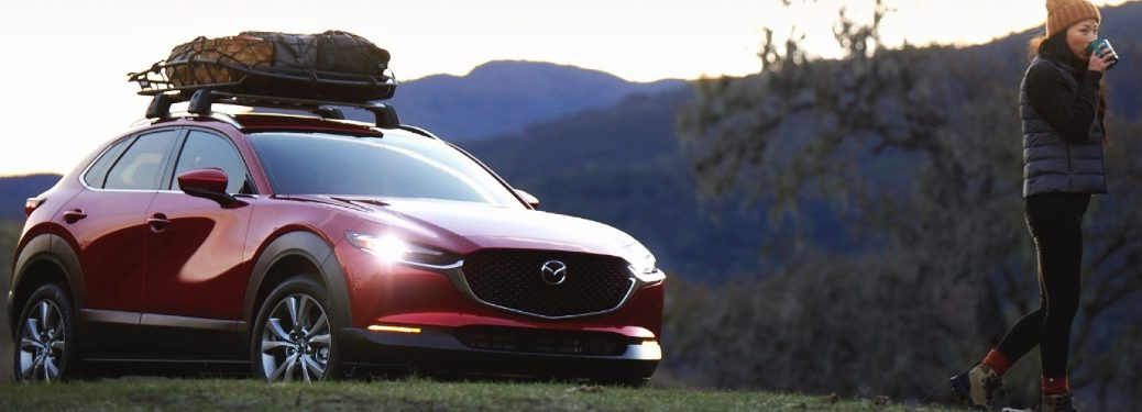 2021 CX-30 with fully-packed roof rack