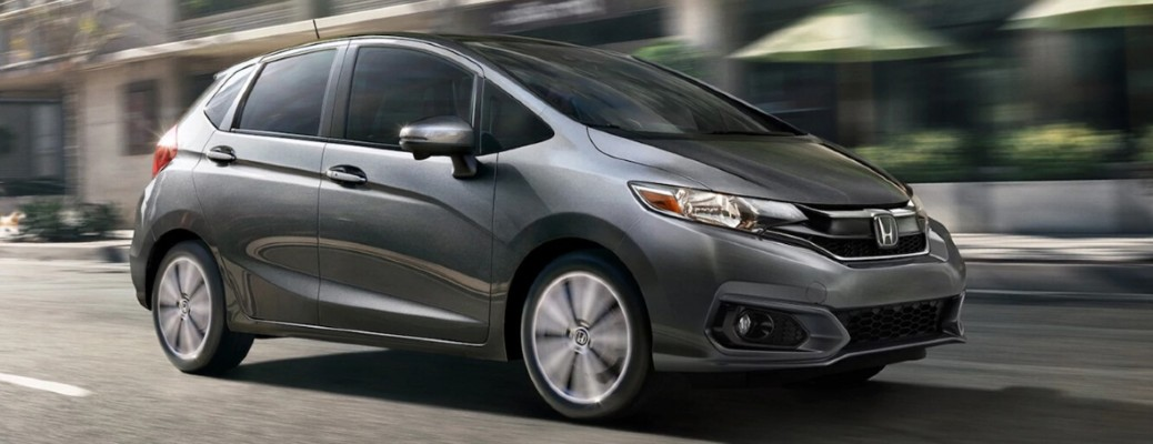 2020 Honda Fit side view on a road