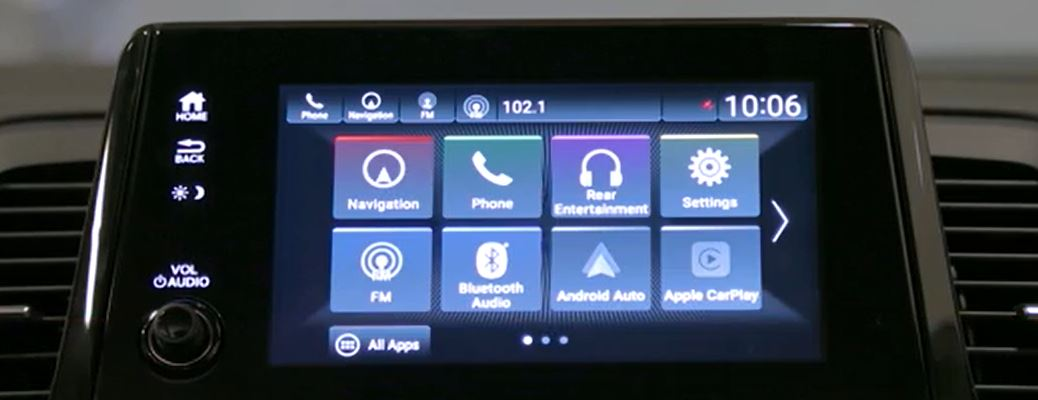 display audio system in a Honda vehicle