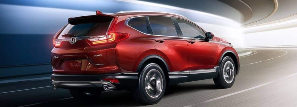 2019 Honda CR-V driving down a tunnel