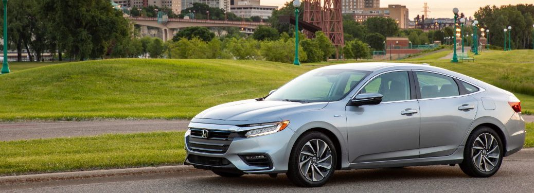 2020 Honda Insight driving down a country road