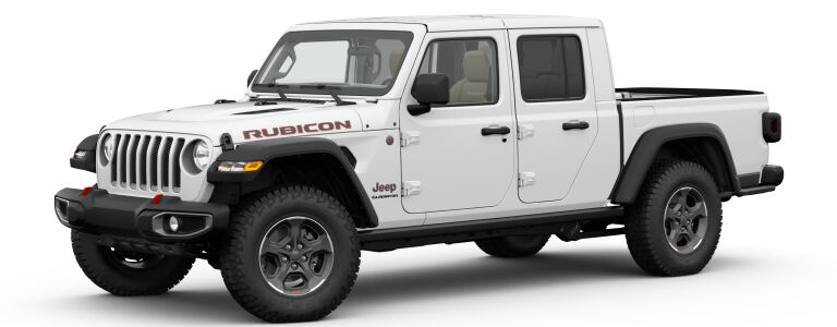 2020 Jeep Gladiator Bright White side view