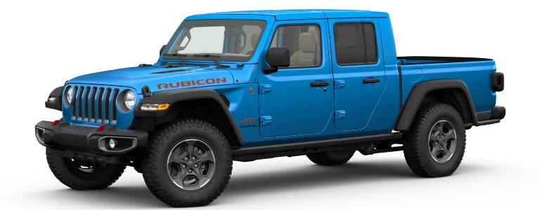 2020 Jeep Gladiator Hydro Blue Pearl side view