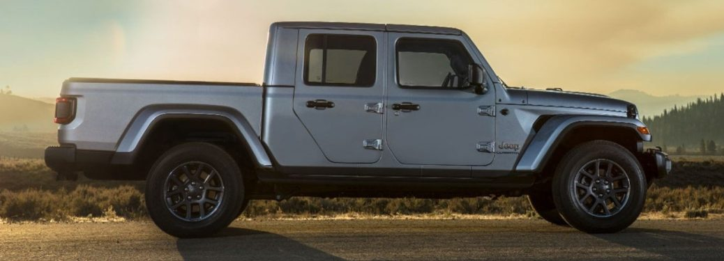 2020 Jeep Gladiator silver side view
