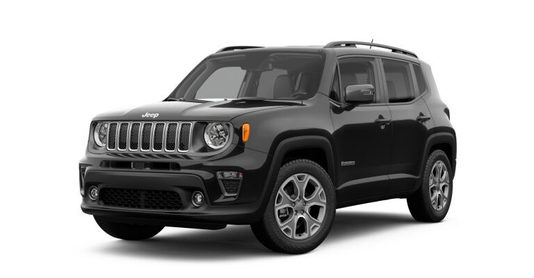 2019 Jeep Renegade black side front view