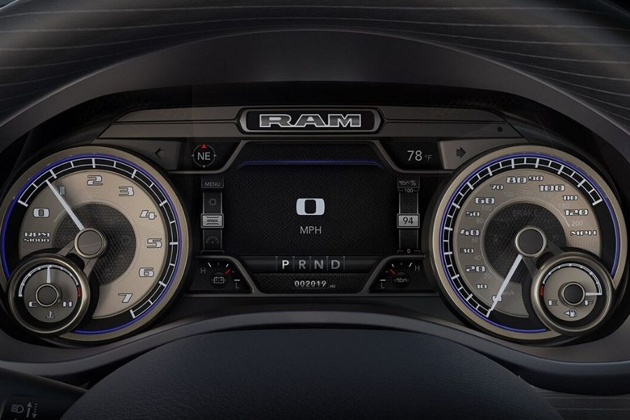 The available 7-inch driver information digital cluster display