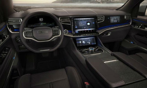 Interior view of Jeep Grand Wagoneer Concept