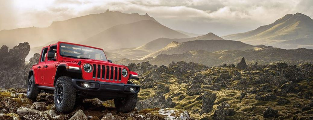 2021 Jeep Wrangler on mountains