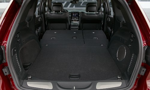 Open trunk of 2021 Jeep Grand Cherokee
