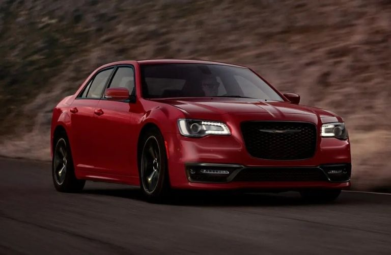 2021 Chrysler 300 Red Front and Side View