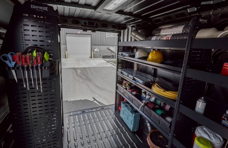 Image of the interior of the 2022 RAM ProMaster