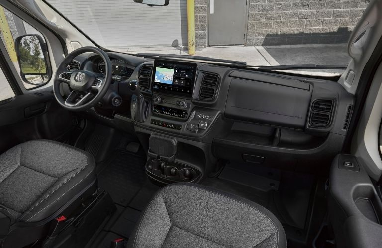 Image of the dashboard of the 2022 RAM ProMaster