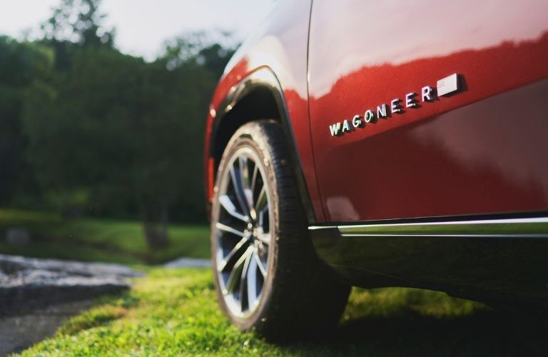 Close up of the Wagoneer's logo