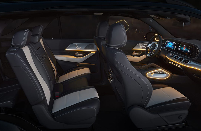 2021 Mercedes-Benz GLE SUV seat interior view represented by 2020