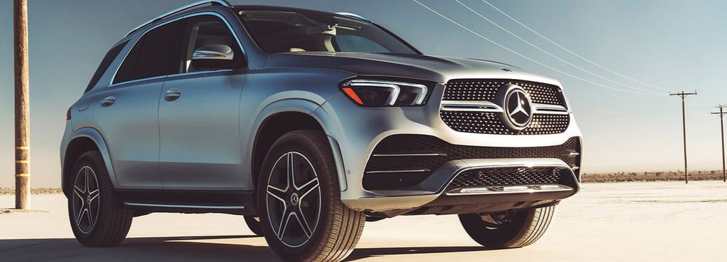 2020 Mercedes-Benz GLE SUV representing the 2021 model outside